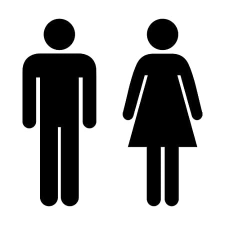 Male Female Simple Symbol Toilet Sign Vinyl Decal Graphic Amazon