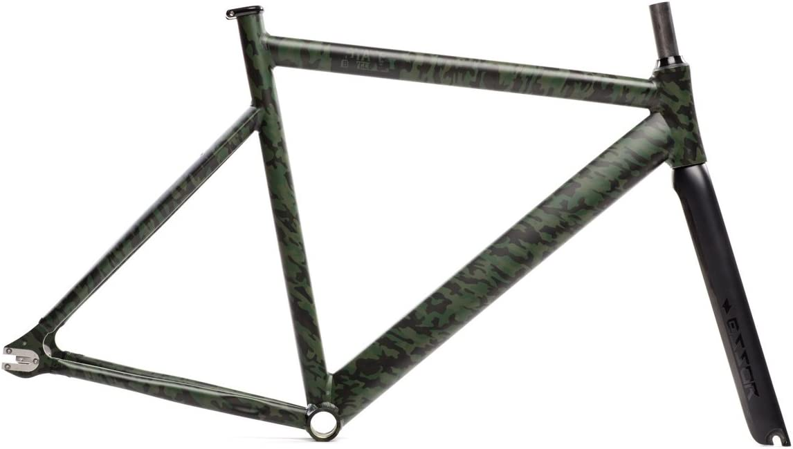 State Bicycle Co Camo Print 49cm Fixed Gear 6061 Black Label Frame and Fork