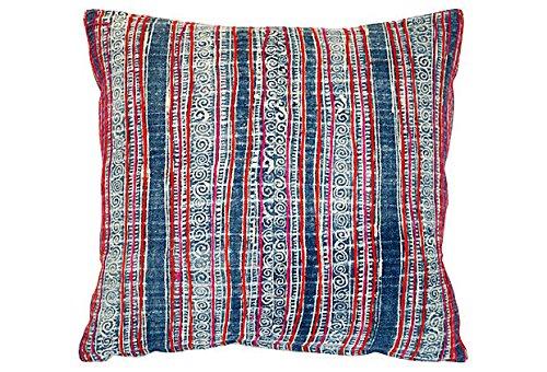 Acapillow Hmong Embroidered Batik Indigo Pillow - Navy Blue 22
