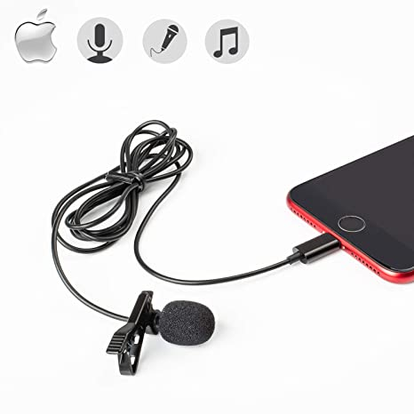 free shipping d95f6 25f98 Amazon.com : Professional Lavalier Lapel Microphone Hands Free Clip ...