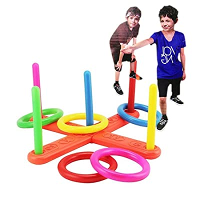 Funny Family Outdoor Game Ring Children Toy Throw Lawn Toss Quoits Play Garden: Toys & Games