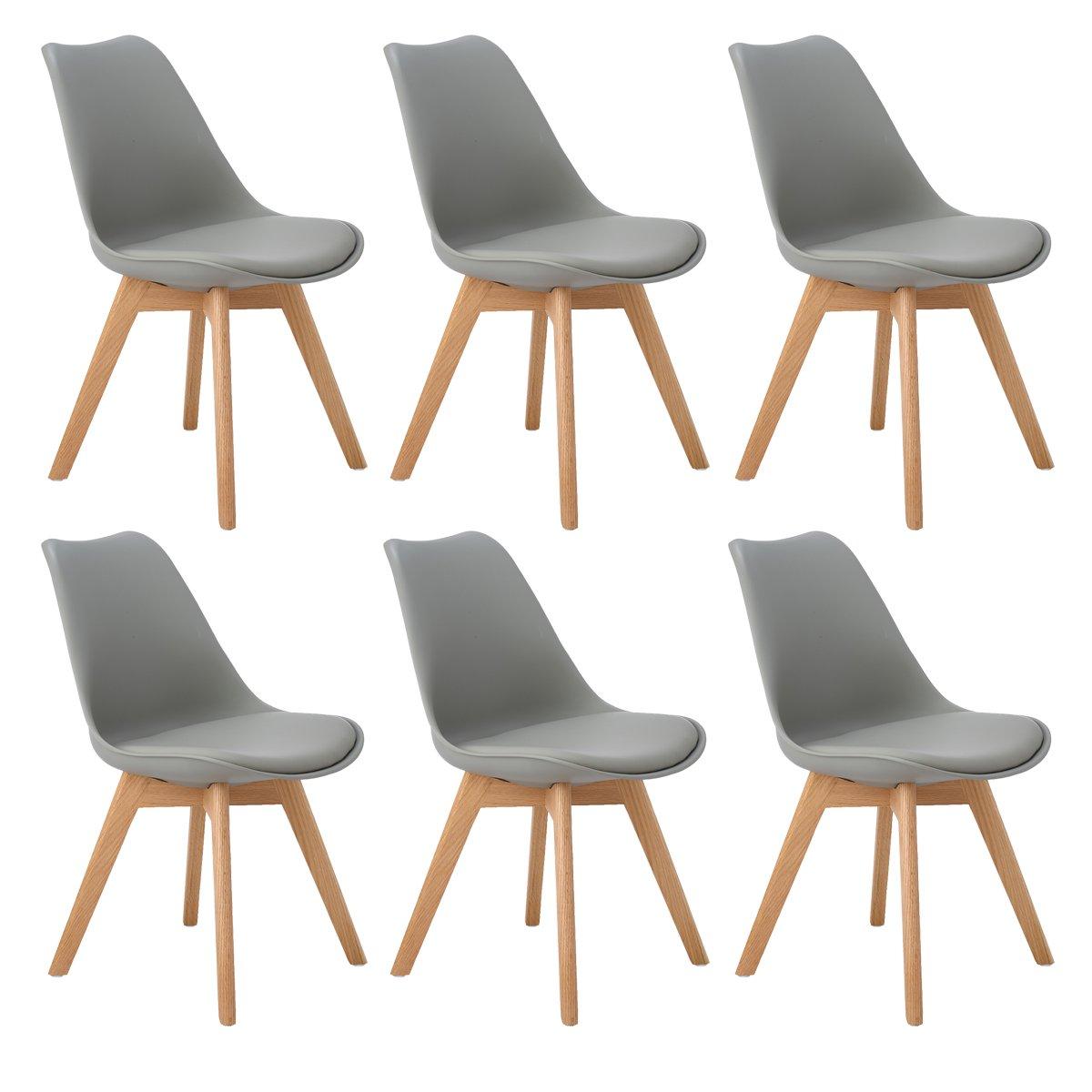 Come Pulire Sedie In Plastica.6 X Sedie Da Ufficio Moderne In Plastica Per Sala Da Pranzo E
