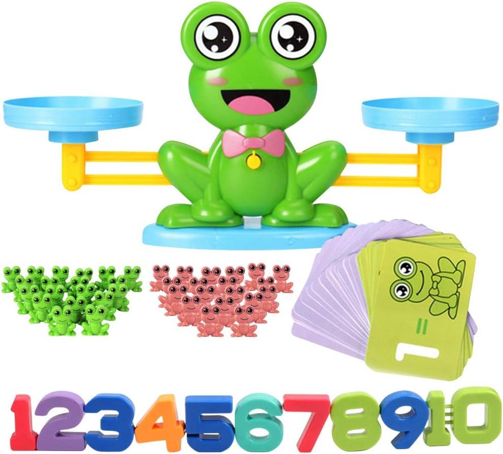 82PCS Hxezoc Balance Math Game Frog Balance Counting Toy ...