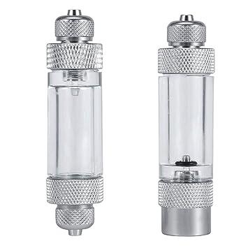 Hanyoug 2 Tipos Single/Double Head Acuario Planta de Agua CO2 Sin Retorno Burbuja Contador