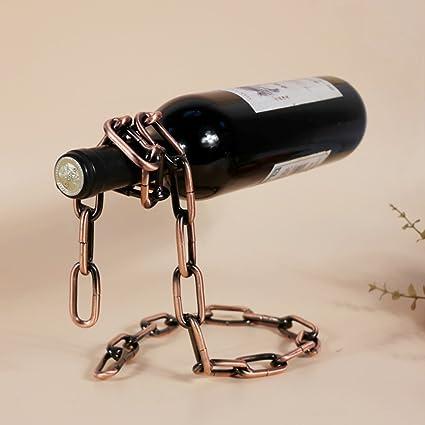 Per Magic Chain Wine Holder Novelty Red Wine Bottle Rack 3D