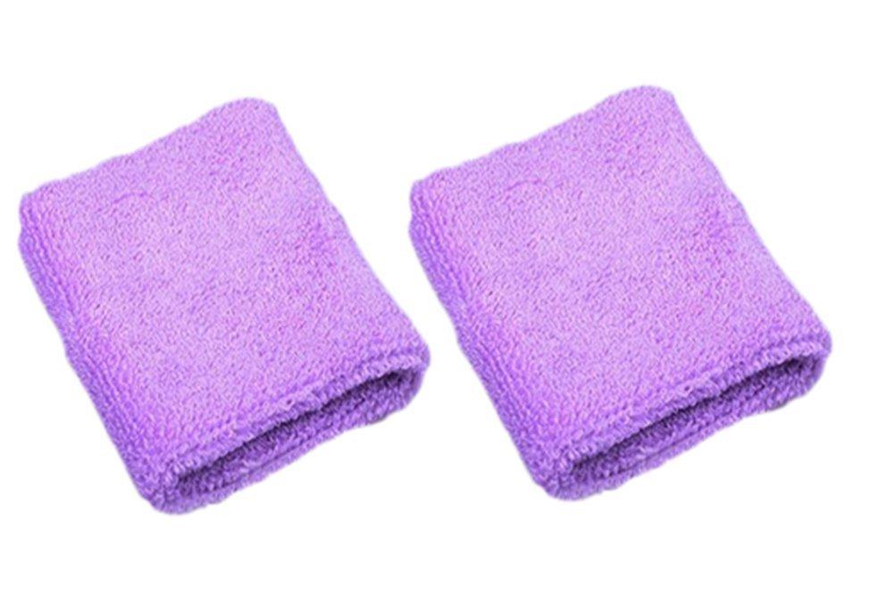 Cdet 1Par Pulsera de entrenamiento algodón banda de sudor de muñeca deportes baloncesto wristband sweatband Interior al aire libre yoga dance ejercicio, Azul