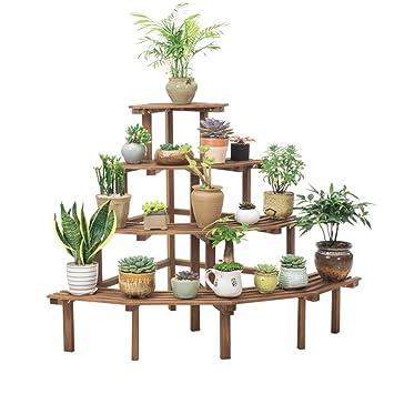 Lhl-Flower Stands WEI Ming Shop- Racks de Escalera de 4 Niveles Racks de