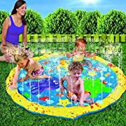 Splash Play Mat, 68in-Diameter Perfect Inflatable Outdoor Sprinkler Pad Summer Fun Backyard Play for Infants Toddlers And Kids