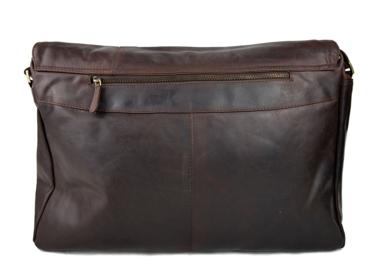 fc0ea0c904 Genuine italian leather XXL shoulder messenger bag ipad laptop ladies men  notebook leatherbag satchel dark brown crossbody business executive bag  ...