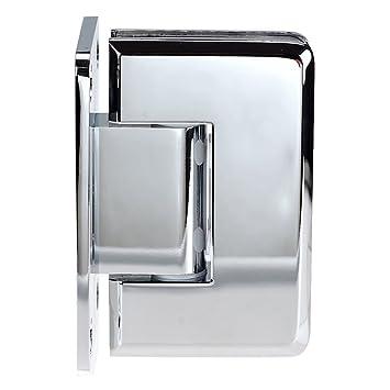 coastal shower doors c3012b paragon wall frameless heavy glass hinge chrome