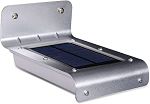 Outdoor Security Solar Motion Lights LED Solar Powered Motion Sensor Wall Lights IPX65 Waterproof Exterior Wireless Garden Wall Porch Lights for Home, Driveway, Patio, Deck, Yard (16 LED)
