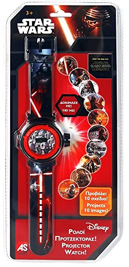 Star Wars - Disney Reloj Digital con proyector 1027-64127: Amazon ...