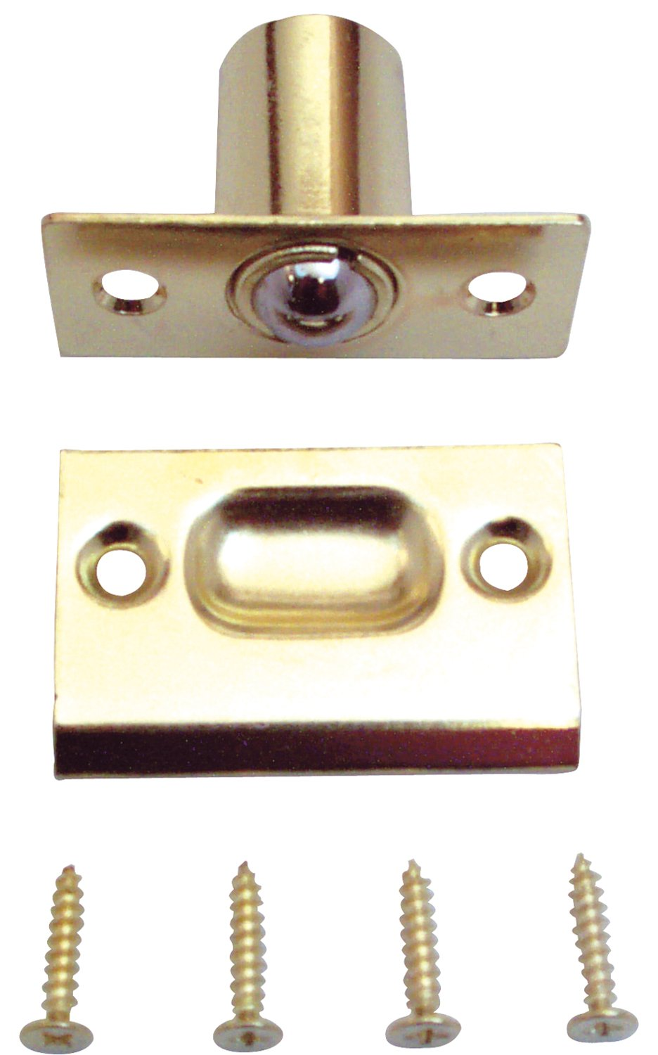 high-quality Prime-Line Products U 9132 Ball Catch & Strike, 1 in. x 2-1/4 in., Steel, Brass Plated, Adjustable