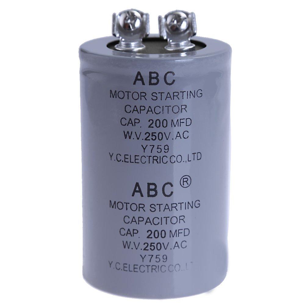 CD60A Motor Starting Capacitor 250VAC 200uF, 250 VAC 200MFD, TMC