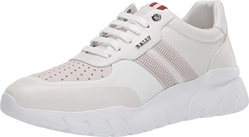 Mayo Desaparecer agudo  BALLY Bison-T/7 Sneaker White 11 UK (US Men's 12): Buy Online at Low Prices  in India - Amazon.in