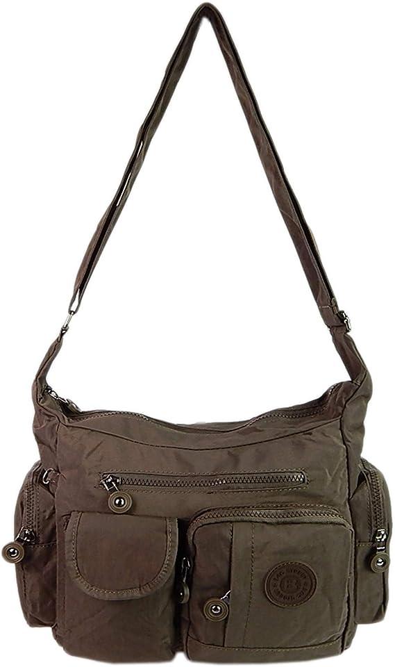 ekavale Leichte hochwertige Damen-Handtasche Umhängetasche aus Rot