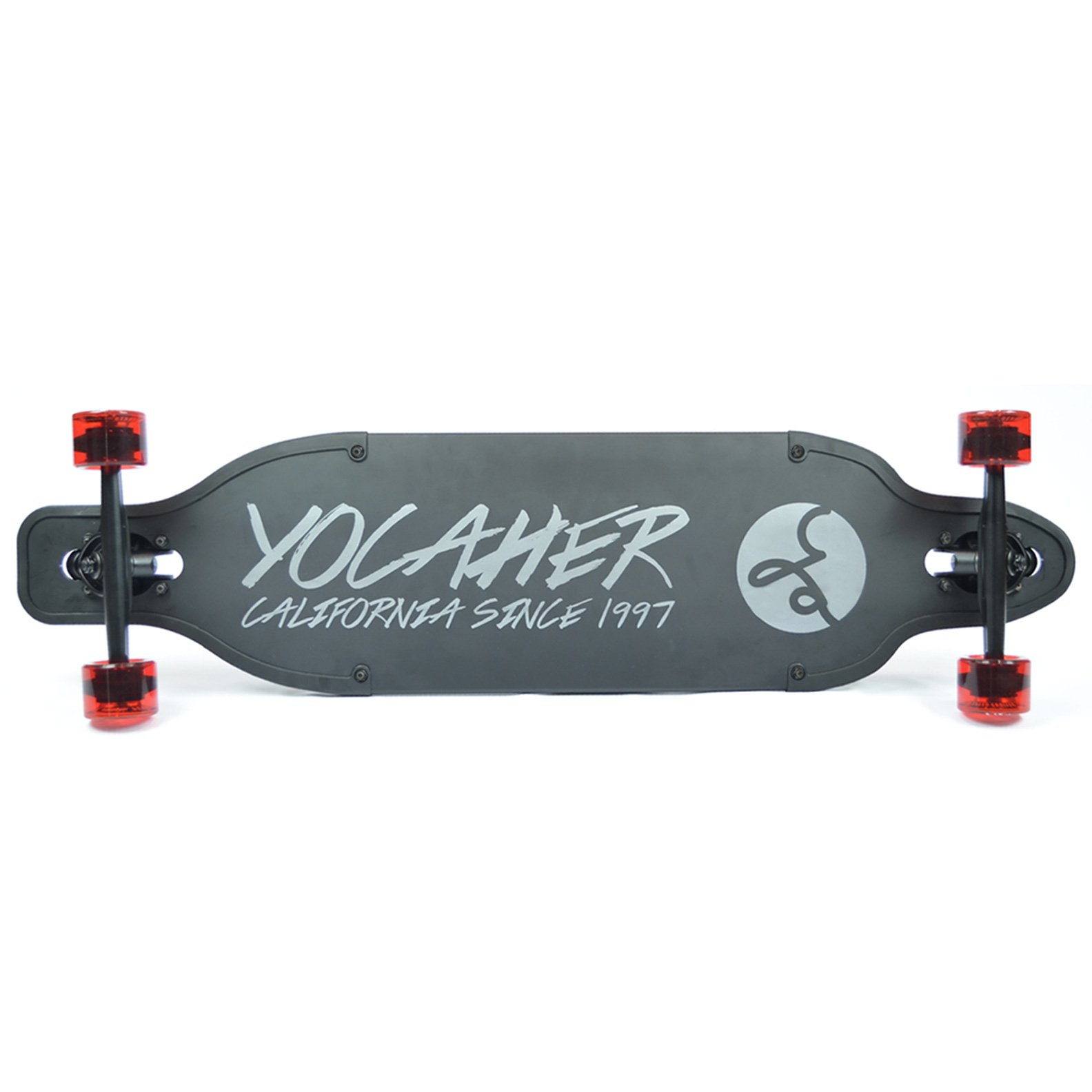 Yocaher Aluminum Drop Through Complete longboard - Gold and Black - 36 inch boards (Black)