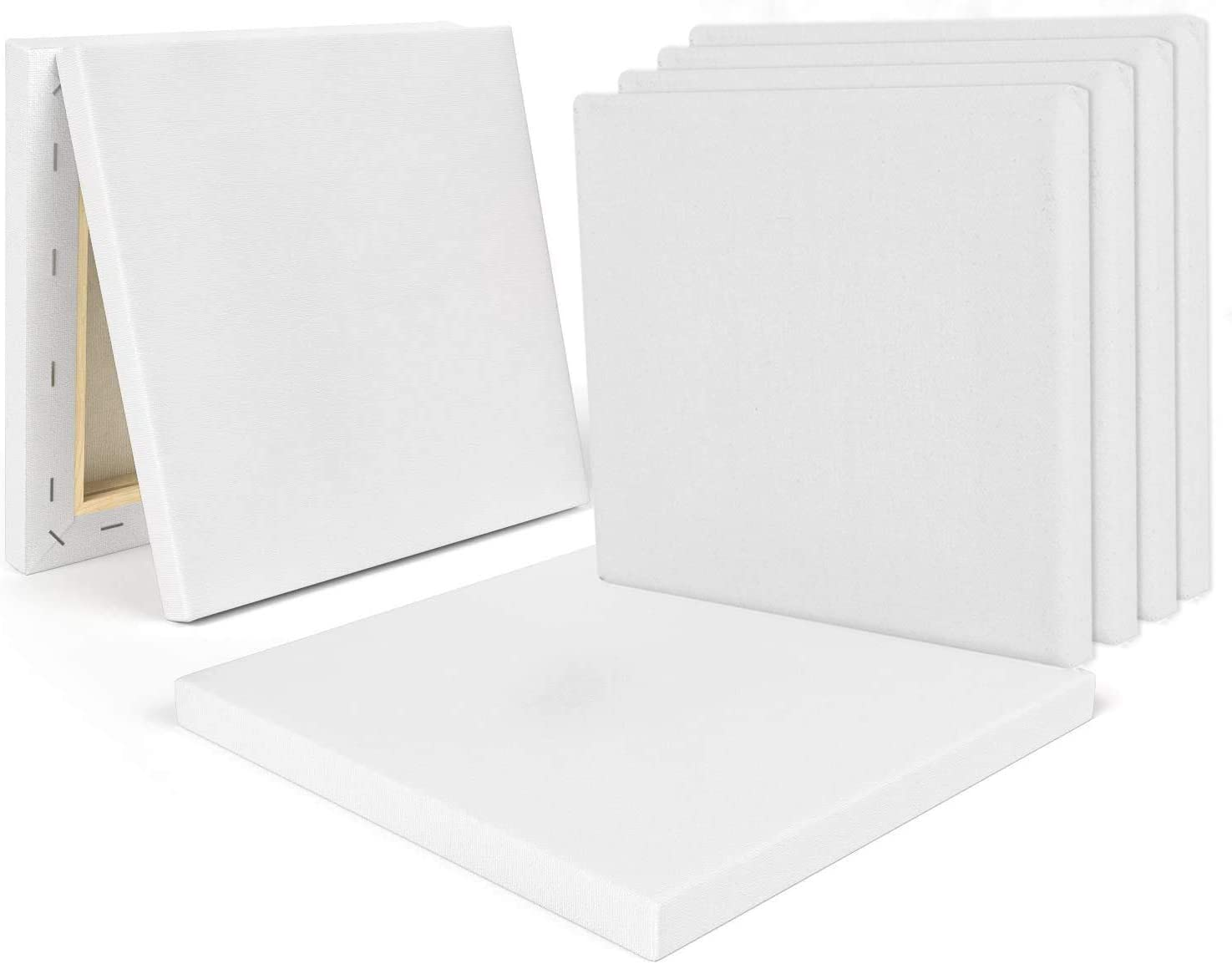 Hobby Painters /& Beginner 12 Pack 8 x 8 Inch Stretched Canvas Panels Oil Paint /& Watercolor pre-Stretched for Artist CBTONE 100/% Cotton Canvas Boards for Painting Acrylic