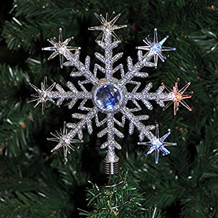 Christmas LED christmas Tree Topper Star Colour Change tree Top Snowflake NEW