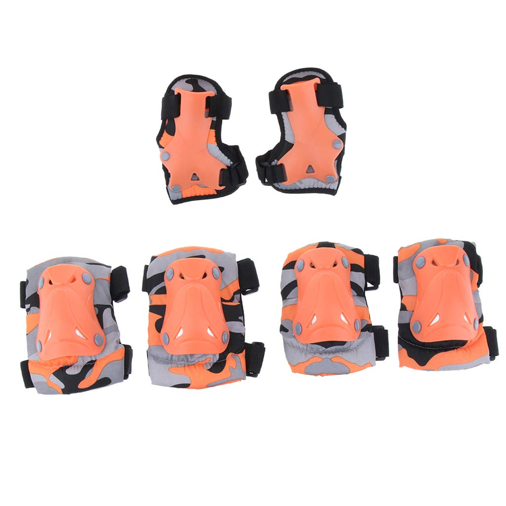 P Prettyia Kids Child Skating Scooter Protective Gear Knee Elbow Hand Pads Set