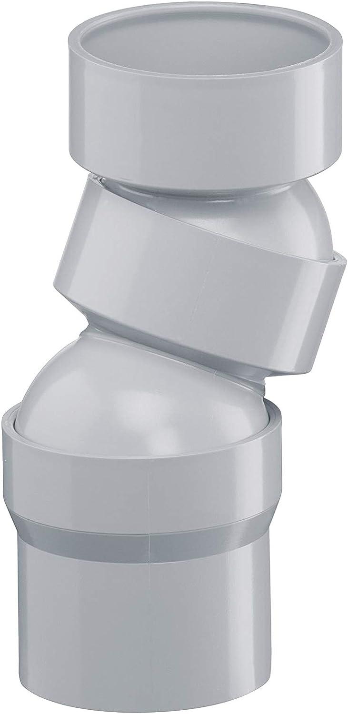 Wei/ß Kunststoff 45/° Regenrinne INEFA Rohrbogen DN 75 Dachrinne