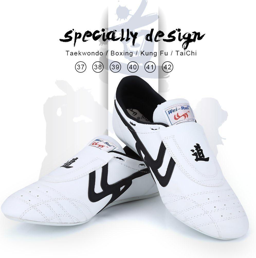Taekwondo Shoes Martial Arts Sneaker Boxing Karate Kung Fu Tai Chi Shoes Black Stripes Sneakers Lightweight Shoes