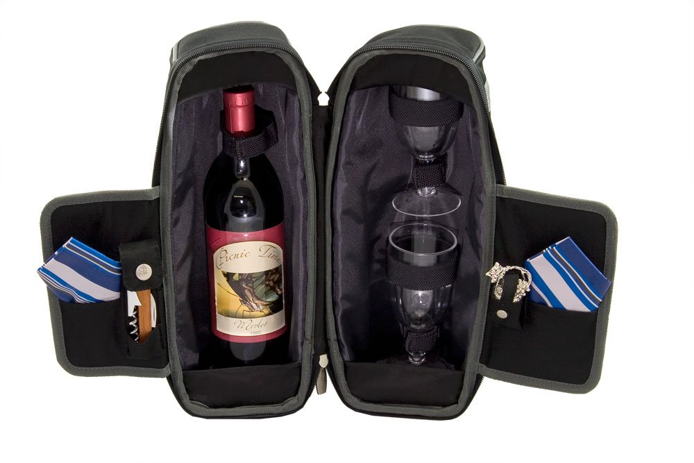 Legacy-A Picnic Time Brand Estate Insulated Wine Tote with Service for 2