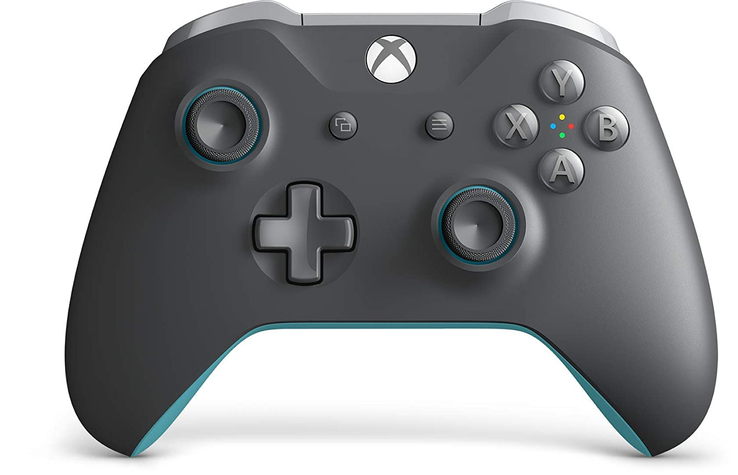 Control inalámbrico de Xbox one, color gris y azul