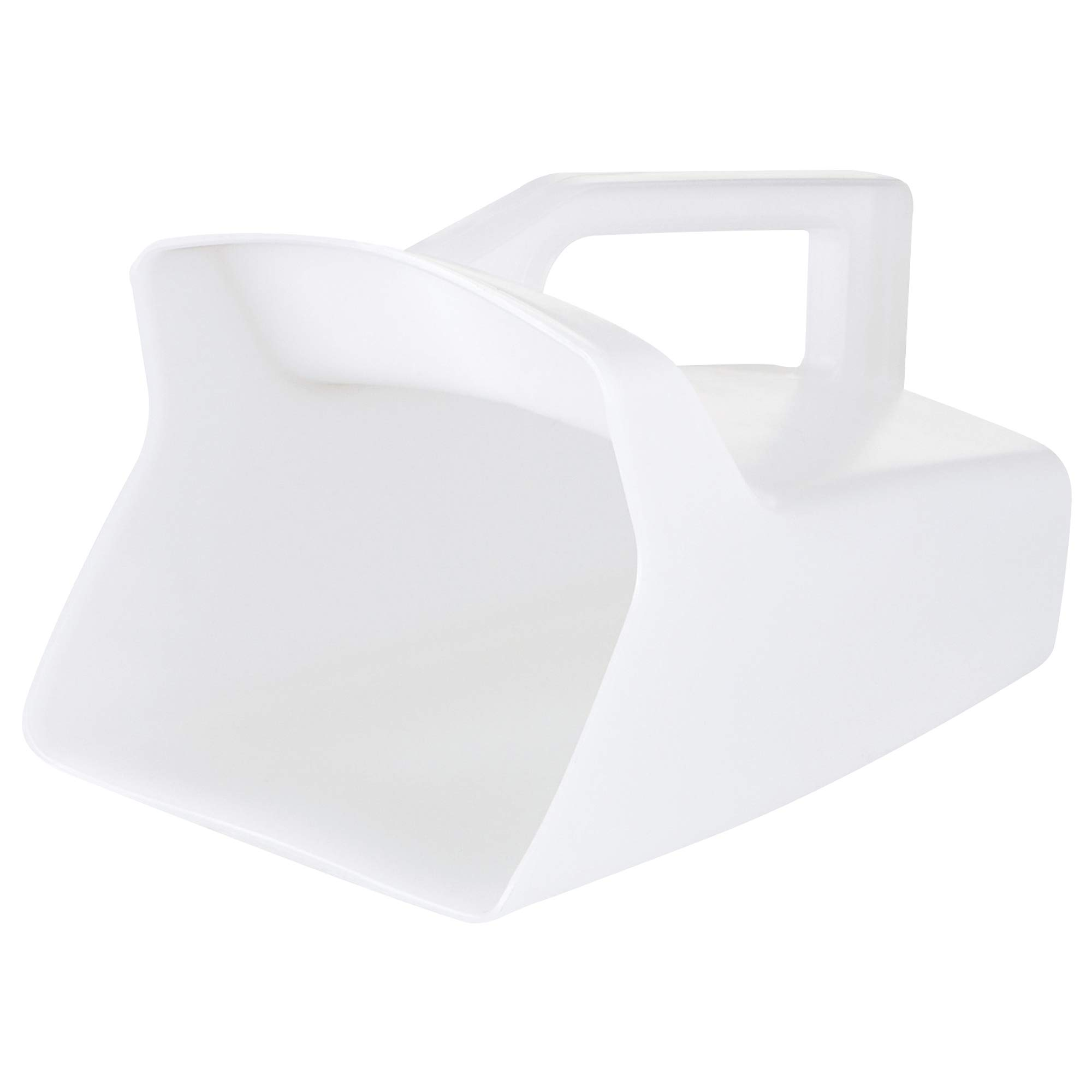 Utility Plastic Scoop, 64 oz, White, 1/Each