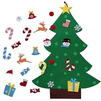 Runvian 3ft Bricolaje árbol de Navidad de Fieltro con 26 Adornos Desmontables año niños de Pared de Puerta Decoración Colgante: Amazon.es: Hogar