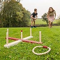 Jardín Juegos ty5964 Madera Anillo Toss Juego: Amazon.es: Juguetes y juegos