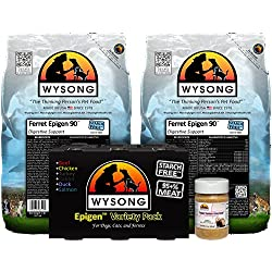 Wysong Ferret Bundle (two-5 lb. bags of Ferret Epigen 90 Digestive Support, one-Epigen Variety Pack (six-12.9 cans), one-3 oz. Ferret Omega-3 Spectrum)