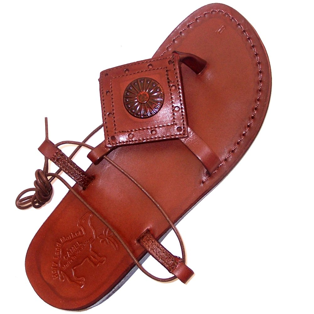 Holy Land Market Unisex Leather Biblical Sandals (Jesus - Yashua) Mary Magdalene Style I - EU 44