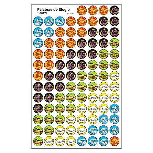 Trend Enterprises Inc. Palabras de Elogio (SP) superSpots Stickers, 800 ct