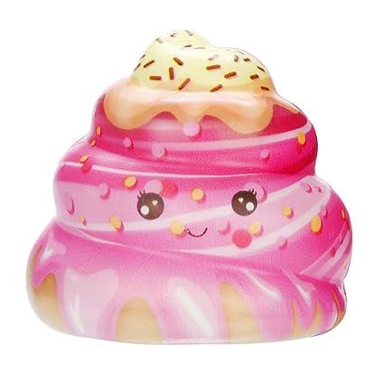 Fossrn Juguete de Galaxy Ciervo Kawaii Grande Animales con Perfumados Olor Juguetes de compresión (Cake