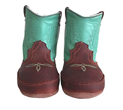 3eaecc2898a Baby Infant Toddler Cowgirl Boots Soft Genuine Leather Western Embroider  Green