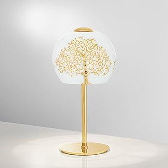Kolarz moderna lámpara de mesa (Oro, diseño, forma de bola, E14 ...