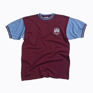 Score Draw Official Retro West Ham - Camiseta de deporte y fans para hombre, tamaño