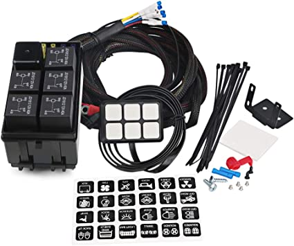 wire harness box amazon com waterwich 6 gang switch panel electronic relay system wire harness board accessories waterwich 6 gang switch panel