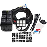 WATERWICH 6 Gang Switch Panel Electronic Relay System Circuit Control Box Waterproof Fuse Relay Box Wiring Harness…