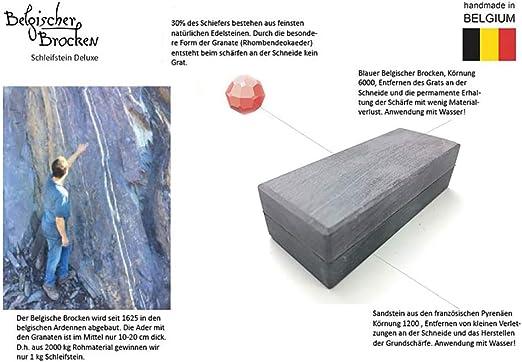 Piedra de afilar (bloque belga y piedra pirenaica, 150 x 40 mm)