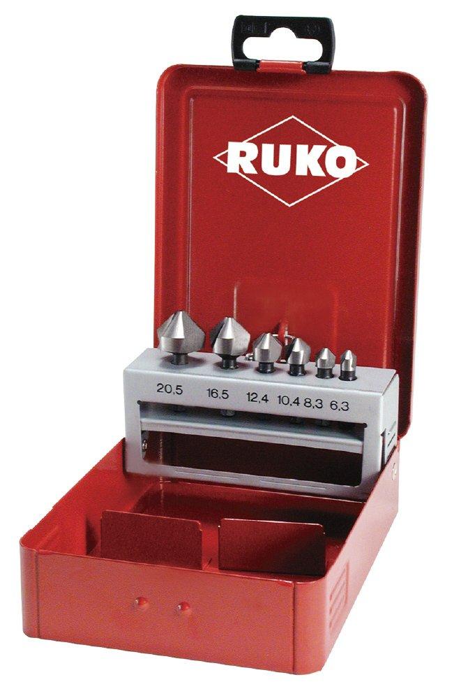 Ruko 102319 - Juego de 6 BIT, avellanadores có nicos, DIN 335 forma C avellanadores cónicos RUKO GmbH