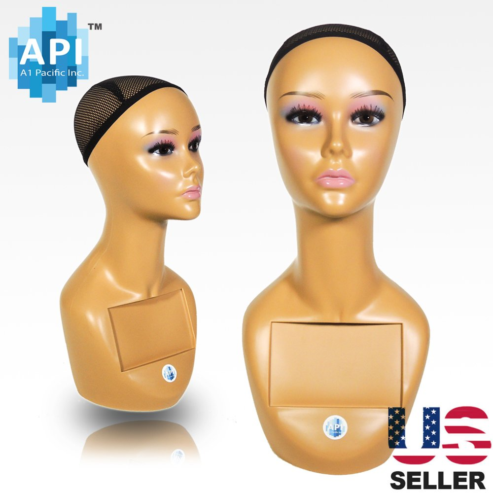 18'' Female Life Size Mannequin Head for Wigs, Hats, Sunglasses Jewelry Display A1