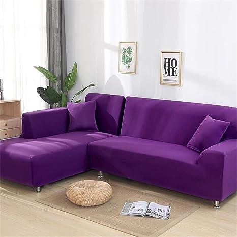 Amazon.com: 2 fundas para sofá de esquina o sala de estar ...