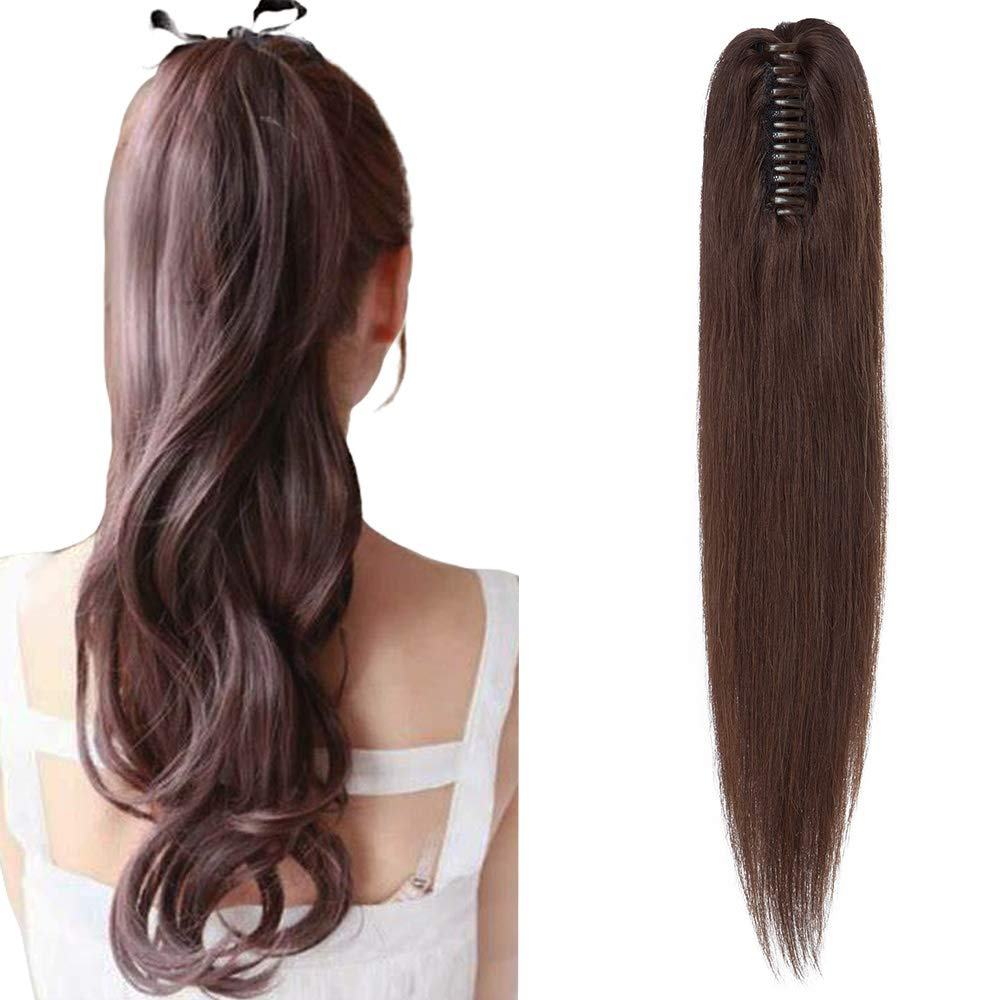 Hairro Ponytail Hair Fashion Soldering Extensions Claw Clip Po On Jaw Ponytails In