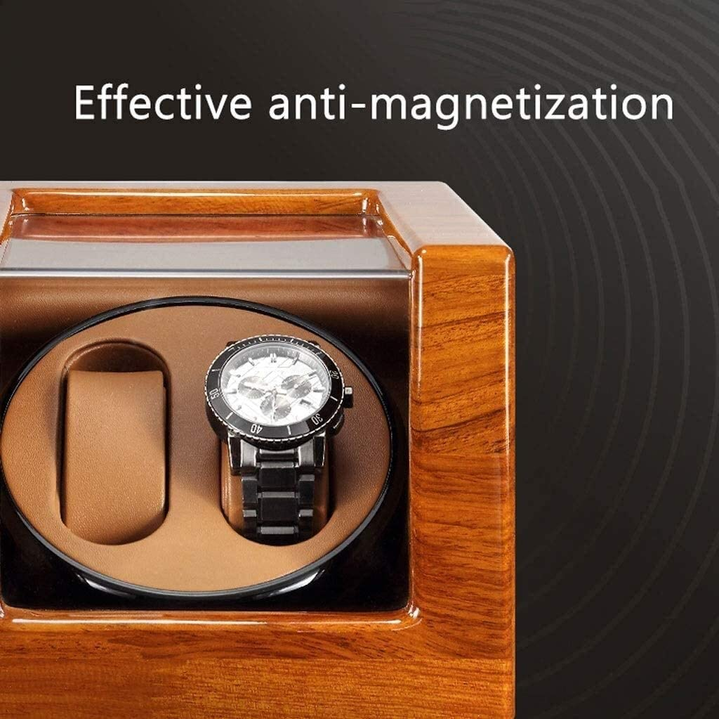 JKFZD Automatic Watch Winder Scatola di Avvolgimento Depositi Caso Silenzioso Motore for Due Orologi A Carica Automatica (Color : A) B