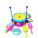 Bluester Musical Toys,5pcs Kids Baby Roll Drum Musical Instruments Band Kit Children Toy Baby Gift