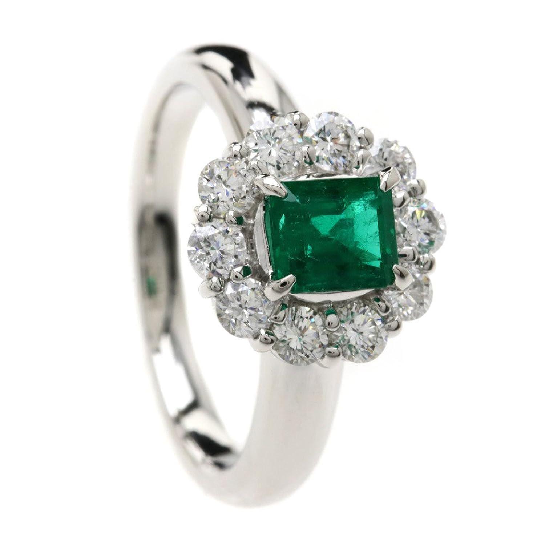 [セレクトジュエリー]エメラルド/ダイヤモンド リング指輪 Pt900 レディース (中古) B07CH1F8NB