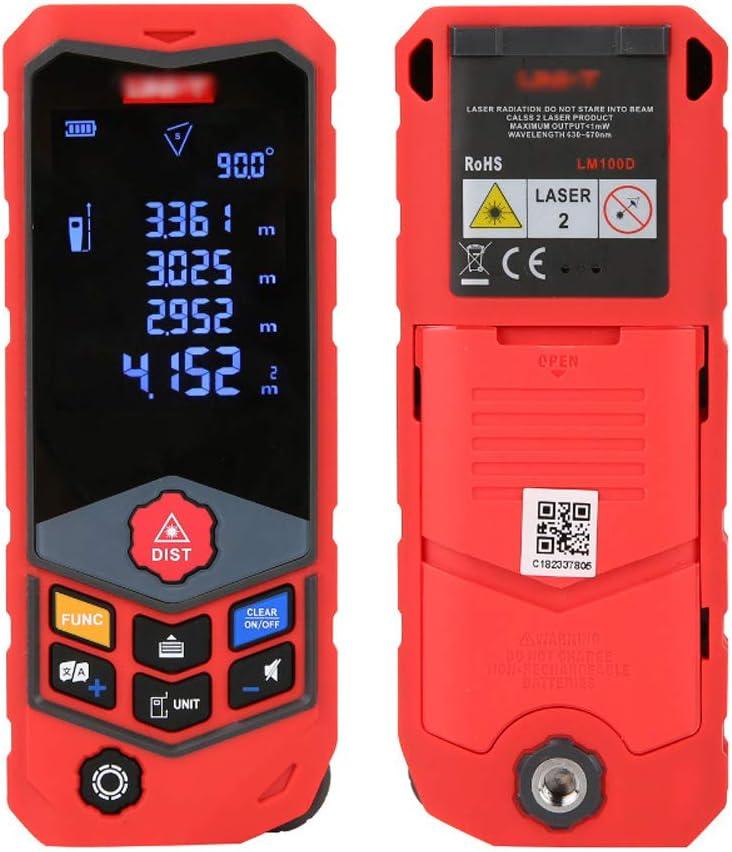 Medidor Laser de Distancia, Telemetro Laser con Precisión 2mm, Medición De Ruedas, Carga Directa USB