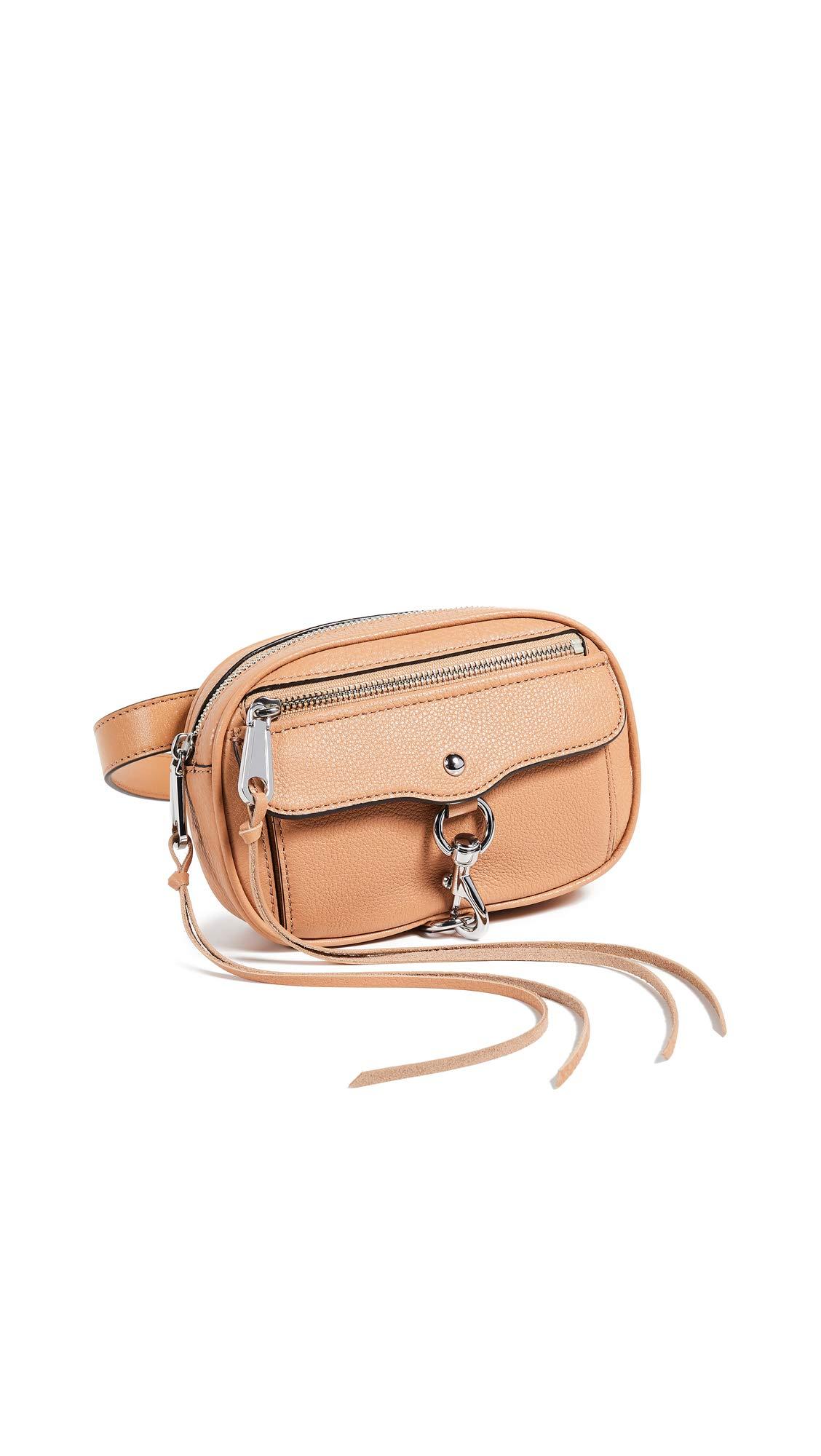 Rebecca Minkoff Women's Blythe Belt Bag, Honey, Tan, One Size